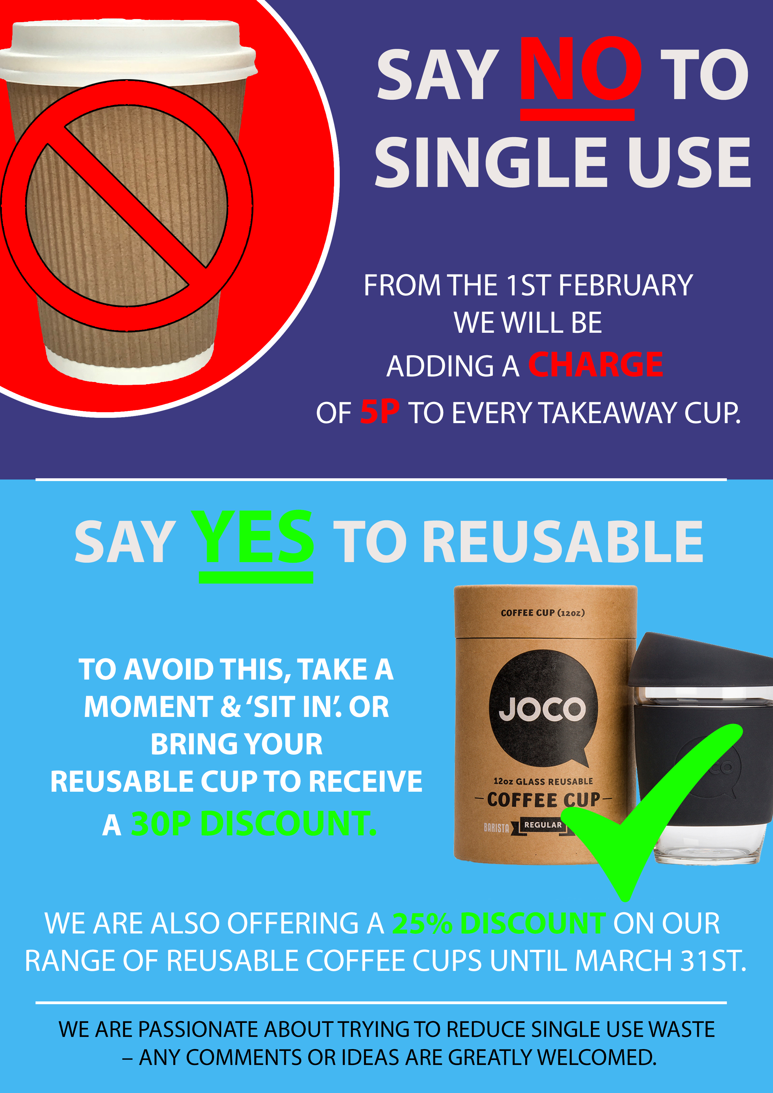 Takeaway Cup Poster