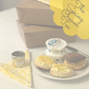 Springtime Cream Tea Takeout Box