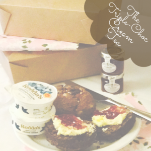 Triple Chocolate Cream Tea Takeout Box